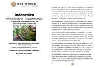 Detailinformation-Indonesien Mystische Kulturen-Ungezähmte Natur ...