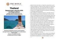 Thailand - ONE WORLD Reisen mit Sinnen