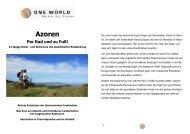 Detailinformationen Azoren - Per Rad und zu Fuß 2014