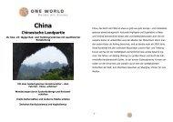 Detailinformationen - China - Chinesische Landpartie 2014