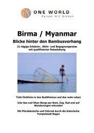 Detailinformation Myanmar/Birma - Blicke hinter den Bambusvorhang