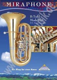 B-Tuba Modell 91 (5/4 - Bauart, kompakt) - Reisser Musik