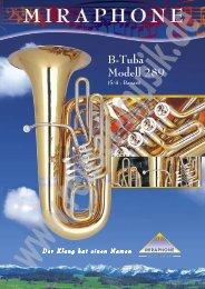 B-Tuba Modell 289 (5/4 - Bauart) - Reisser Musik