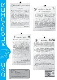 Was machen eigentlich... REISSWOLF Dez. 2007 IKOM News ...