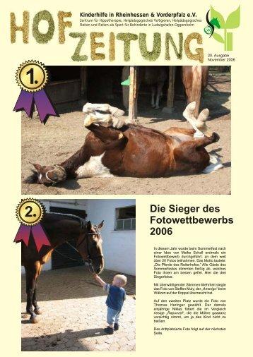 Hofzeitung 2006 als PDF zum Herunterladen - Reiterhof Kinderhilfe ...
