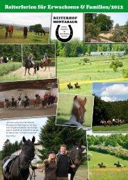 Reiterferien für Erwachsene & Familien/2012 - Reiterhof Montabaur