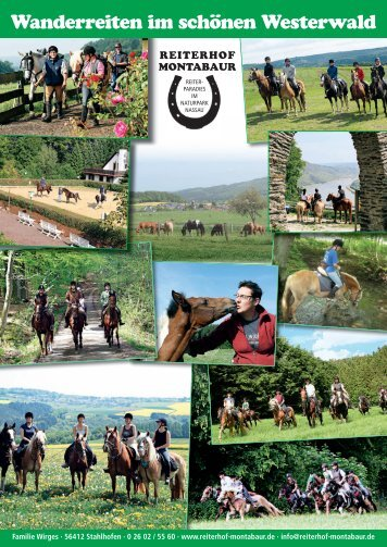 Wanderreiten 2010 - Reiterhof Montabaur