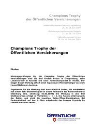 Bewertung Champion Trophy - Reiterverband Oldenburg eV