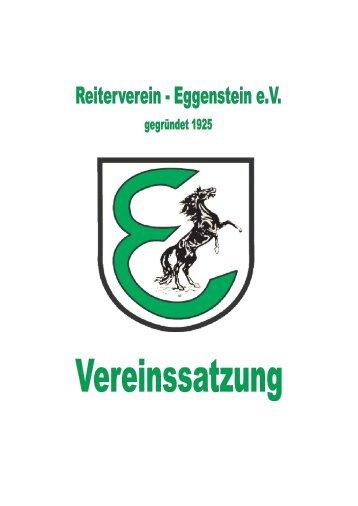 Satzung 2009.fm - beim Reiterverein Eggenstein eV