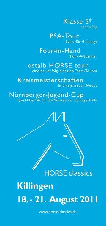 Flyer Reitturnier Killingen 18. - HORSE classics GbR