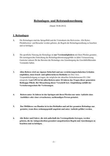 Reitanlagen - (Reit- und Fahrverein) Barlo-Bocholt
