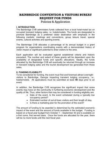 Requests for funding - City of Bainbridge, Georgia