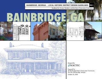 Historic District Design Guidelines - City of Bainbridge, Georgia