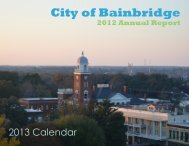 2012 Annual Report Calendar - City of Bainbridge, Georgia