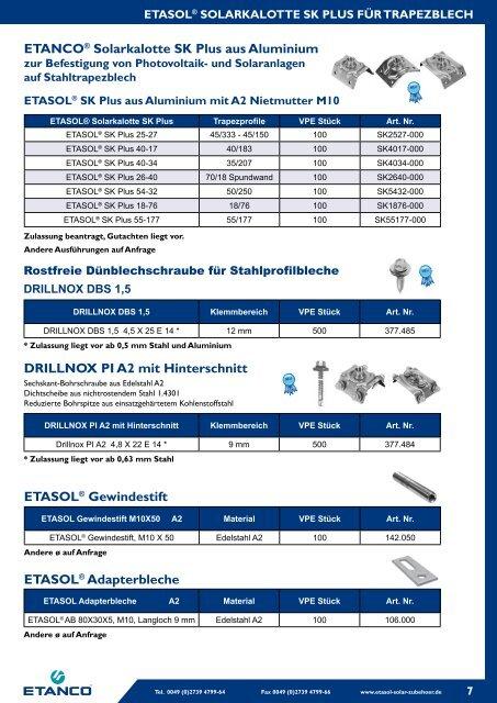 ETASOL® Sechskantschraube aus Edelstahl A2 - zur ETASOL