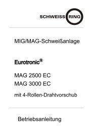 MIG/MAG-Schweißanlage MAG 2500 EC MAG 3000 ... - Reiz GmbH