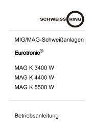 MIG/MAG-Schweißanlagen MAG K 3400 W MAG K ... - Reiz GmbH
