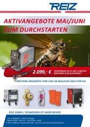AKTIVANGEBOTE MAI/JUNI ZUM DURCHSTARTEN - Reiz GmbH