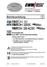 TRITON 180; TRITON 220; TRITON 220 AC/DC - Reiz GmbH
