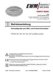 TETRIX 301, 351, 421, 521 DC CLASSIC activARC - Reiz GmbH