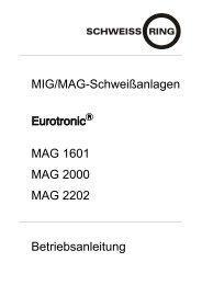 MIG/MAG-Schweißanlagen MAG 1601 MAG 2000 ... - Reiz GmbH