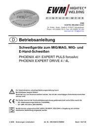 PHOENIX 401 EXPERT PULS forceArc; PHOENIX ... - Reiz GmbH