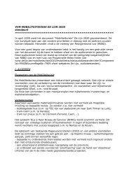 VVM MOBILITEITSVISIE DE LIJN 2020 standpunt ... - NL