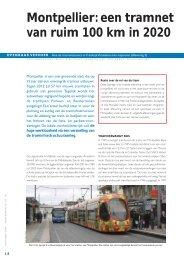 Montpellier: een tramnet van ruim 100 km in 2020