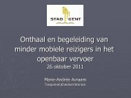 Presentatie Stad Gent