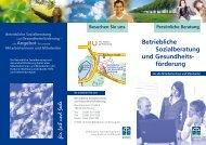 Betriebliche Sozialberatung und Gesundheits ... - Diakonie Wolfsburg