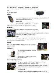RT 3520 Akülü Transpalet Özellikler ve Avantajları - Rekarma