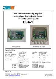 3B6 Electronic Switching Amplifier on Overhead Cranes ... - Rekarma