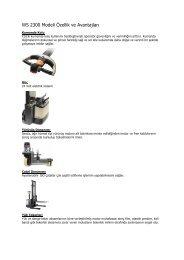 WS 2300 Modeli Özellik ve Avantajları - Rekarma