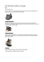 GPC 3040 Model / Özellikler ve Avantajlar - Rekarma