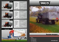 Vacuum sweepers - Trilo