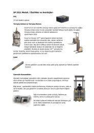 SP 3521 Modeli / Özellikler ve Avantajları - Rekarma