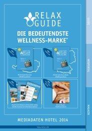 DIE BEDEUTENDSTE WELLNESS-MARKE* - Relax Guide