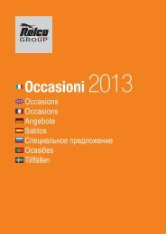 Occasioni 2013 - Relco Group