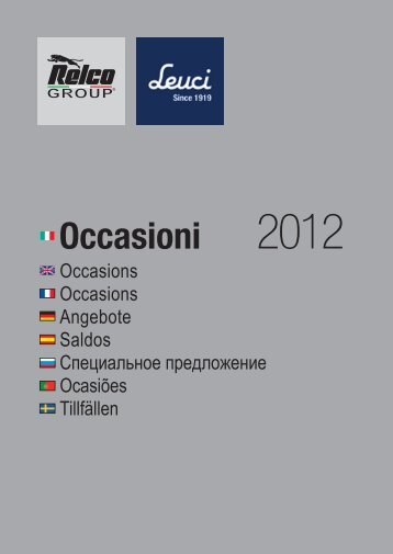 Occasioni - Relco Group