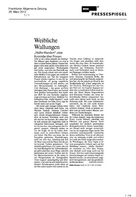 Presseclipping - relevant f!