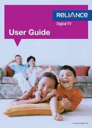 Standard STB User Guide - Reliance Digital TV