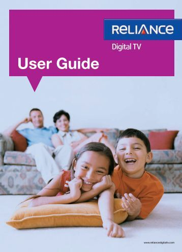 Standard STB User Guide - Reliance Digital TV