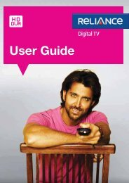 HD DVR STB User Guide - Reliance Digital TV