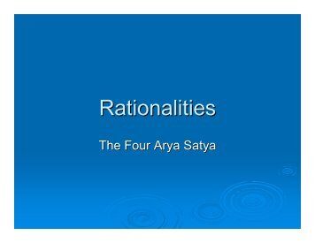 Rationalities