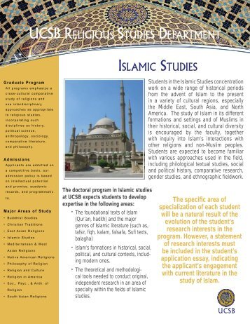 religious studies and arabic Discussion of the metaphysics of islamic religion (allah), muslim beliefs and islam way of life (the 5 pillars of islam) brief summaries on the history of islamic religion / culture and life of muslim women.