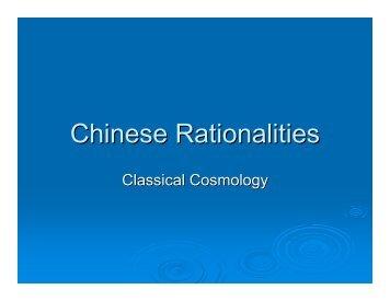 Chinese Rationalities