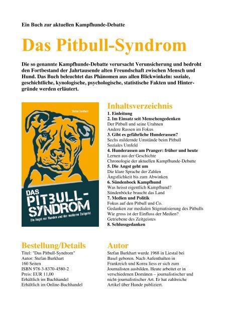 Das Pitbull Syndrom American Staffordshire Terrier Club Schweiz