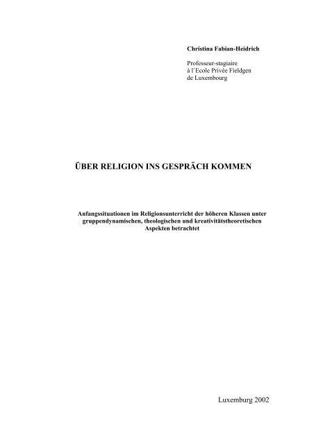 ÜBER RELIGION INS GESPRÄCH KOMMEN - Religionslehrer im ...