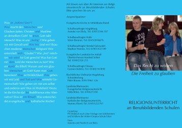 Faltblatt BbS.indd - Evangelischer Religionsunterricht in der EKM