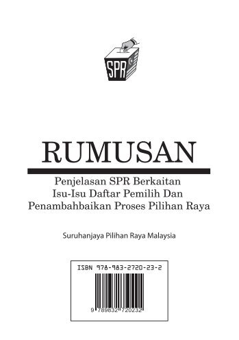 2013 - RUMUSAN Penjelasan SPR
